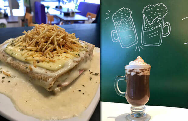 Quente Gratinado + Irish Coffee