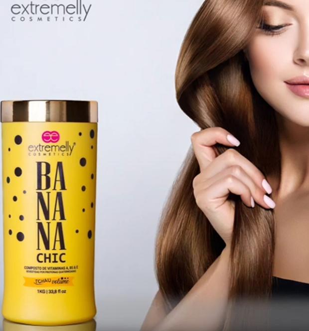Botox Banana Chic Orgânico + Corte Simple+ Cauterização