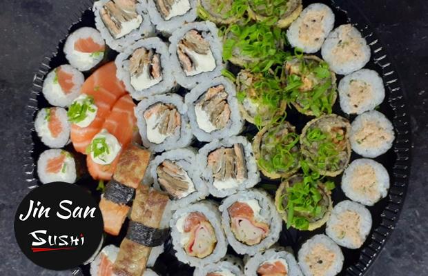 Para Os Amantes Da Culinária Japonesa! Combo Com 40 Peças No Jin San Sushi