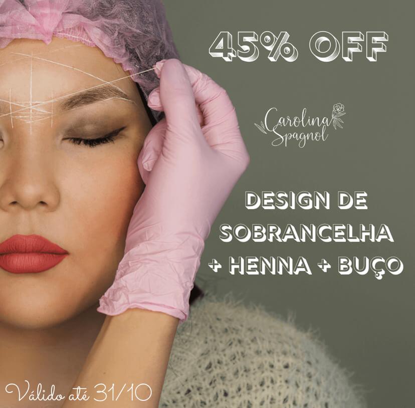 Design + Henna Glance + Depilação Egípcia Do Buço